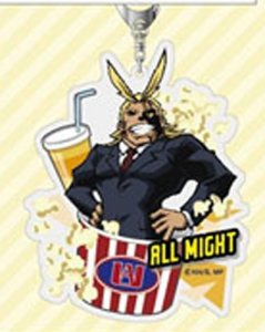 My Hero Academia All Might With Food Acrylic Key Chain