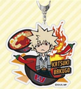 My Hero Academia Bakugo Katsuki With Food Acrylic Key Chain