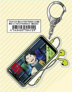 My Hero Academia Midoriya Izuku Deku Phone and Earbuds Acrylic Key Chain