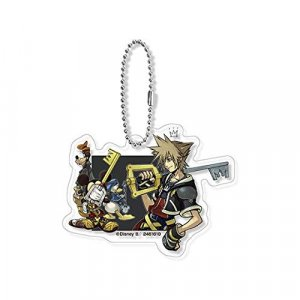 Kingdom Hearts Sora, Goofy and Donald with Keyblades Acrylic Key Chain