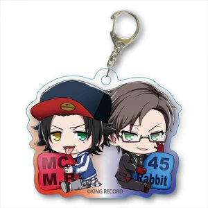 Hypnosis Mic Yamada Jirou MC.M.B and Iruma Juto 45 Rabbit Acrylic Key Chain