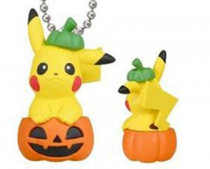 Pokemon Halloween Pumpkin Pikachu Mascot Key Chain