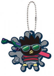Splatoon X Sanrio Badtz Maru Rubber Key Chain