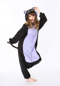 Spooky Black Cat Kigurumi