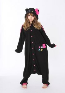 Hello Kitty Black Kigurumi