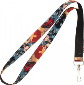 DC Comics Superman, Batman, Wonderwoman Lanyard Key Chain