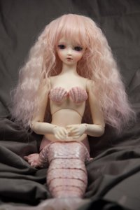 Doll Wig Fae - Flaxen Blond Fade Cotton Candy Pink
