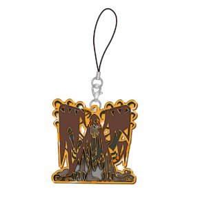 Monster Hunter Vaal Hazak Arch Tempered Stained Glass Metal Phone Strap