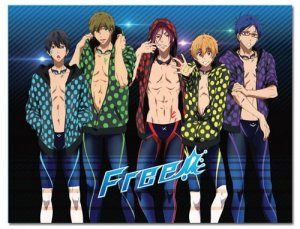 Free! - Iwatobi Swim Club Line Up Fleece Throw Blanket