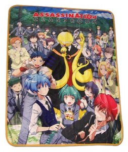 Assassination Classroom Group Fleece Throw Blanket