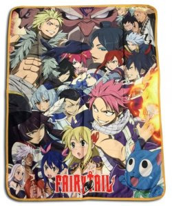 Fairy Tail Big Group Fleece Throw Blanket
