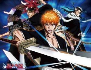 Bleach Ichigo, Renji and Byakuya Fleece Throw Blanket