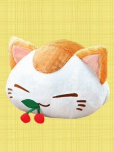 Nemuneko 12'' Calico Cat Eating Cherry