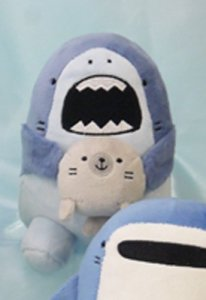 Samezu 7'' Hojiro and Seal Plush Shark
