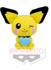 Pokemon 10'' Pichu Eating Berry Banpresto Prize Plush