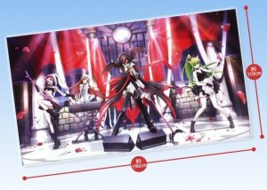 Code Geass Code Black in Ashford Cloth Multi Cross Poster