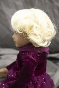 Doll Wig Alice - Flaxen Blond