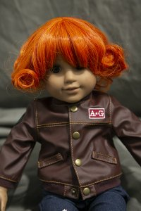 Doll Wig Alice - Autumn Orange