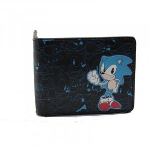Sonic The Hedgehog Sonic And Outlines Black Bifold Wallet