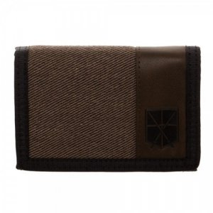 Attack on Titan Fabric Trifold Brown Trainee Wallet