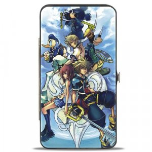 Kingdom Hearts II Group Buckle Down Checkbook Hinge Wallet