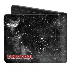 Marvel Deadpool Riding Charging Unicorn Buckle Down Bifold Wallet