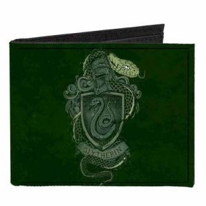 Harry Potter Slytherin Canvas Buckle Down Bifold Wallet
