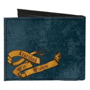 Harry Potter Ravenclaw Canvas Buckle Down Bifold Wallet