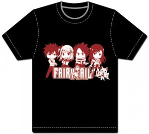 Fairy Tail Red Group Black Men's T-shirt